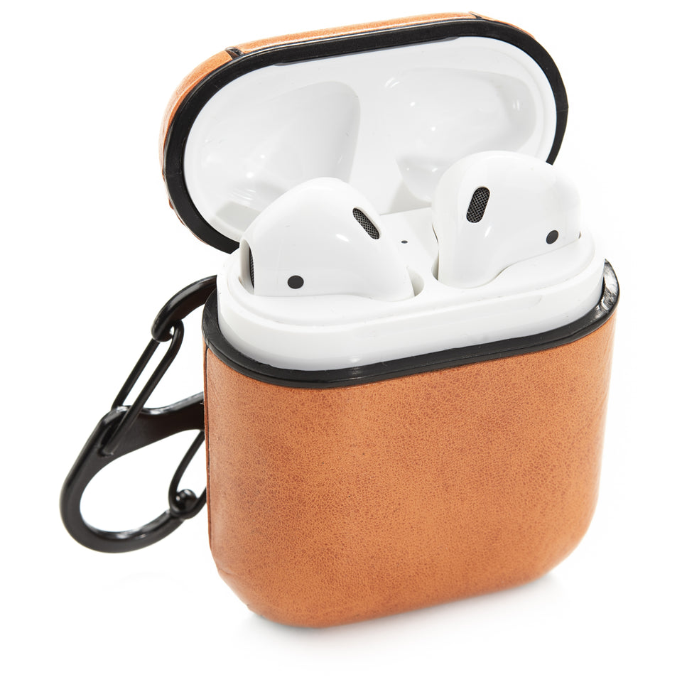 Split Leather AirPod Case - Bronze