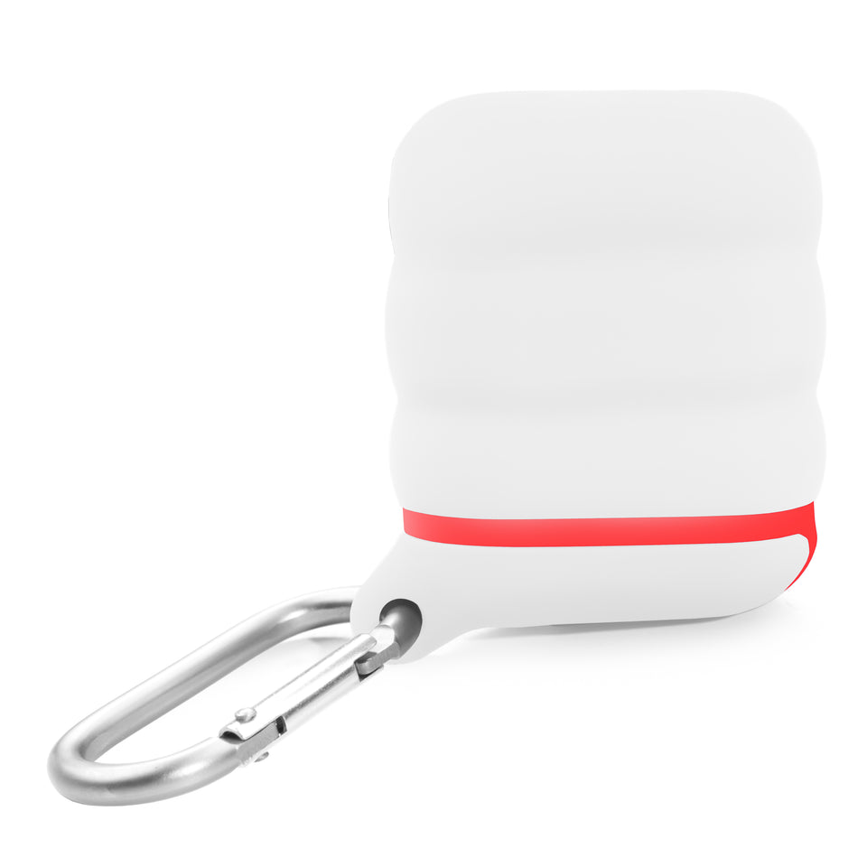 Water-Resistant AirPod Case - White n' Red