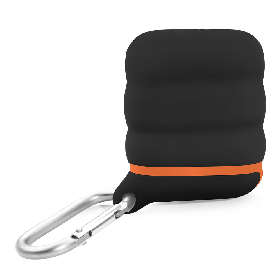 Water-Resistant AirPod Case - Black n' Orange