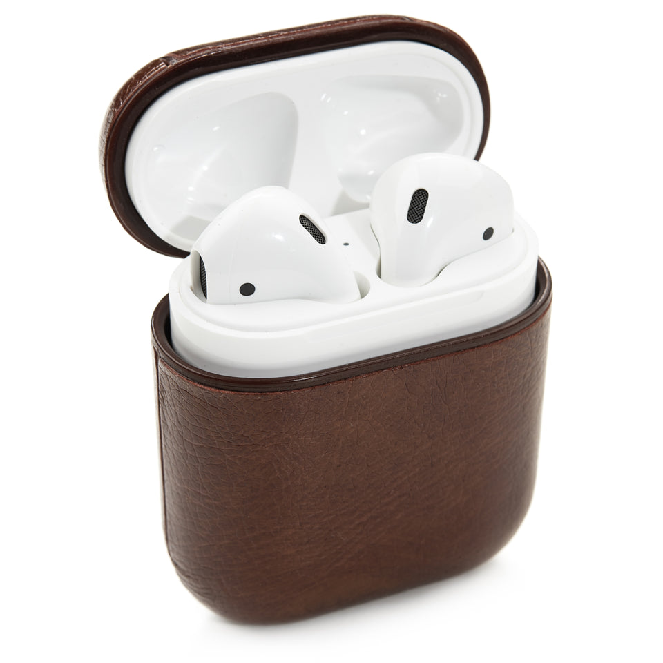 Split Leather AirPod Case - Walnut