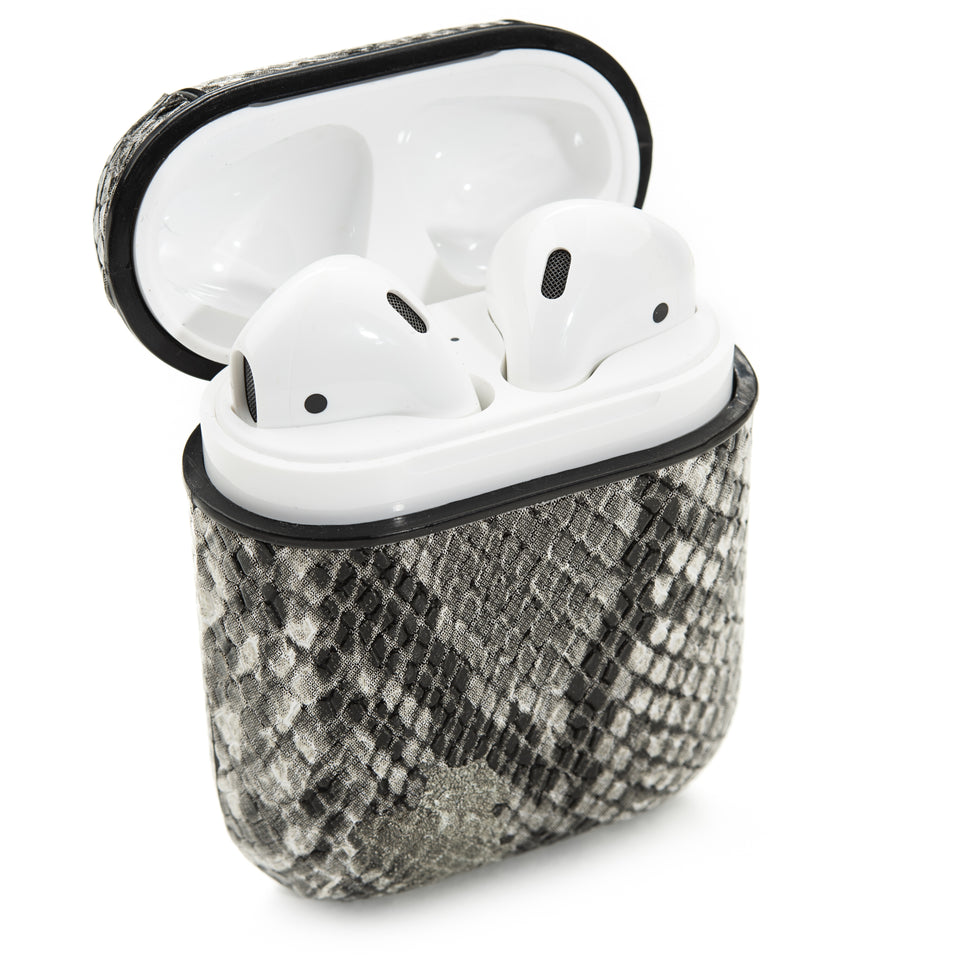 Designer AirPod Case - White Gator