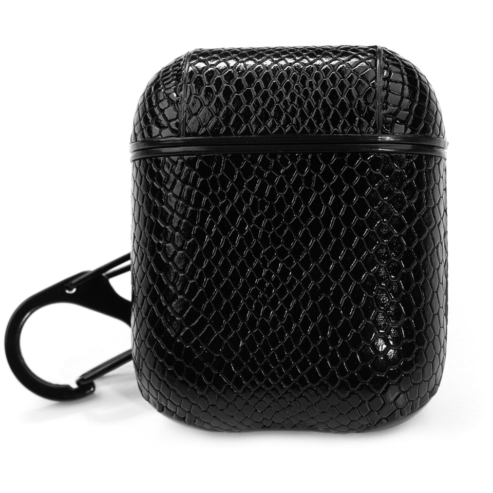Designer AirPod Case - Black Gator