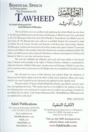 Beneficial Speech In Establishing the Evidences of Tawheed