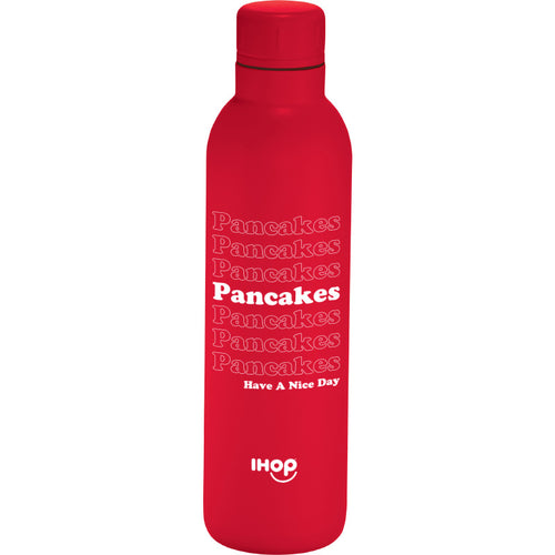 Pancakes water bottle - red - Pancakewear