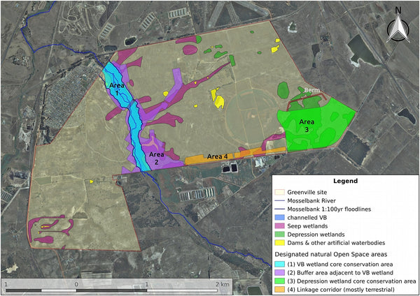 map of greenville mosselbank river conservation area