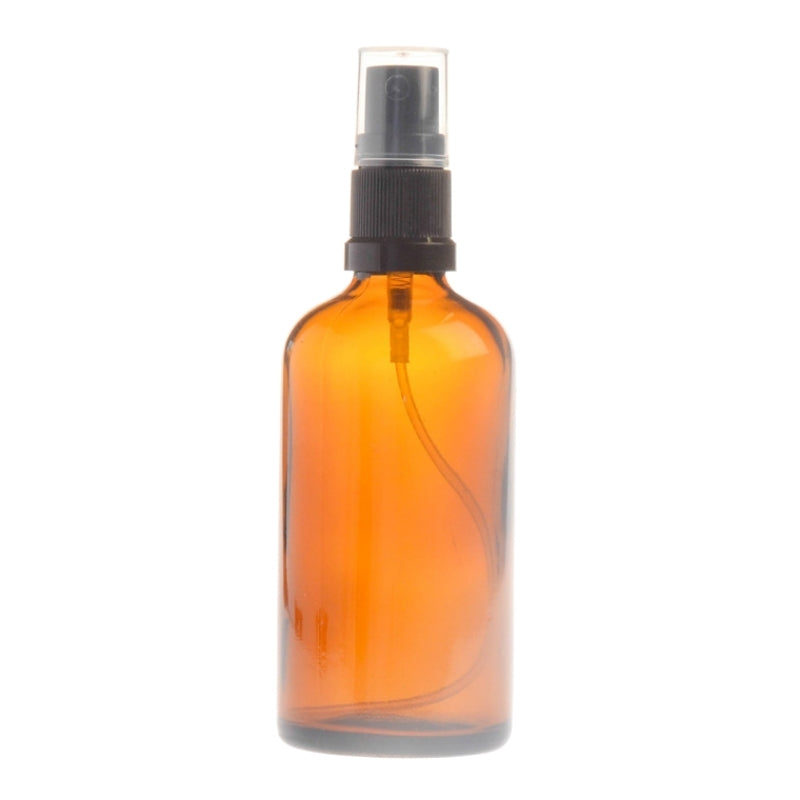 100ml Amber Glass Aromatherapy Bottle with Spritzer - Black (18/410)