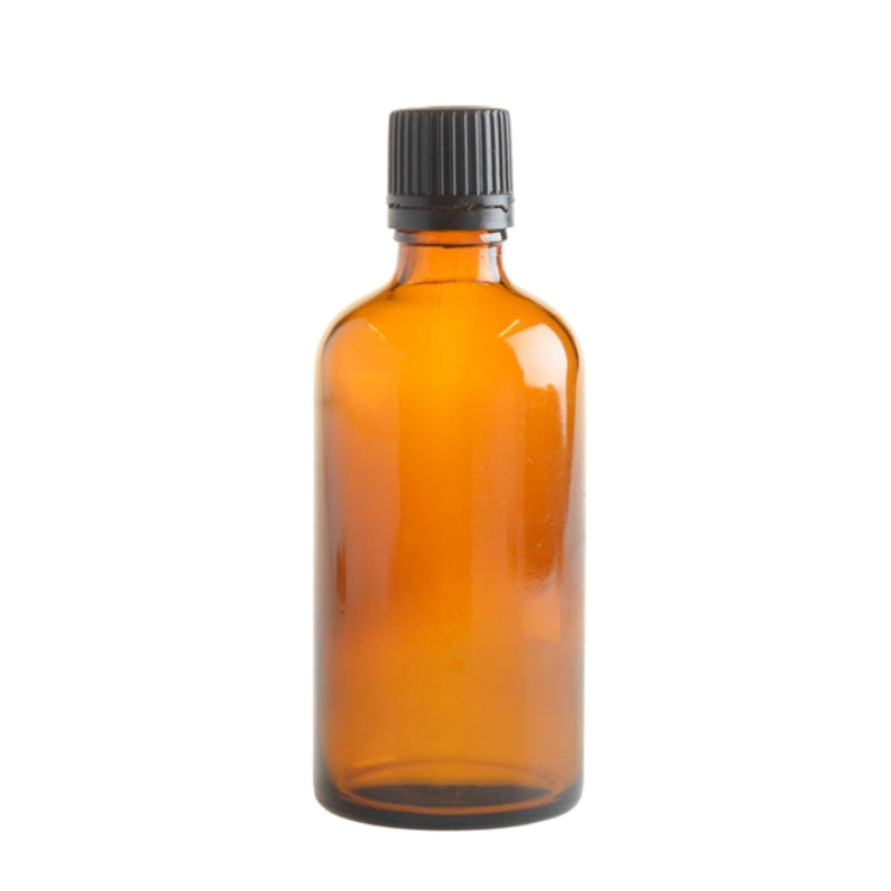 100ml Amber Glass Aromatherapy Bottle with Dropper Cap - Black - Essentially Natural