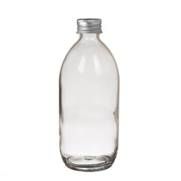 200ml Clear Glass Generic Bottle (Silver Aluminium Cap)