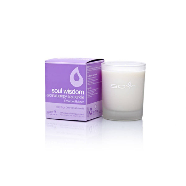 In Time Soul Wisdom Soy Wax Aromatherapy Candle