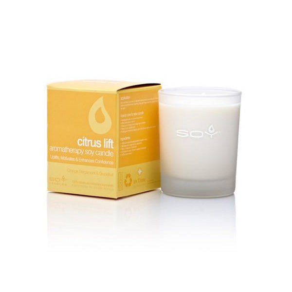 In Time Citrus Lift Soy Wax Aromatherapy Candle