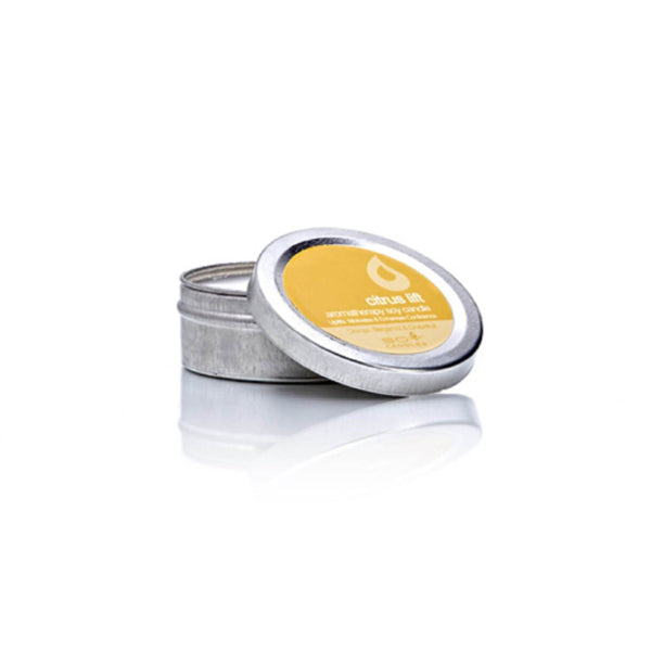 In Time Citrus Lift Travel Tin Soy Wax Candle