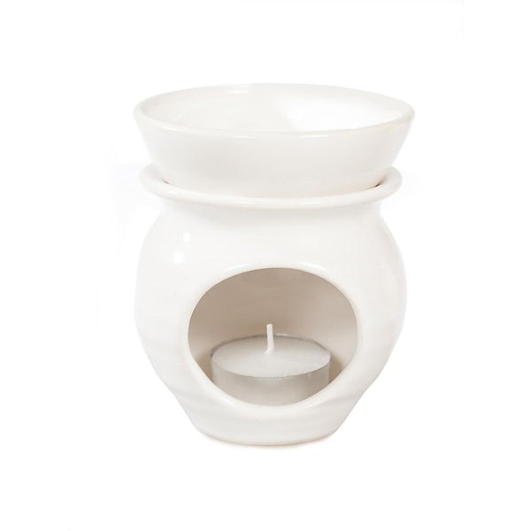 Escentia White Stoneware Oil Burner
