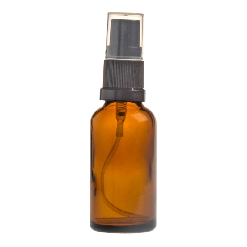 30ml Amber Glass Aromatherapy Bottle with Spritzer - Black (18/410)