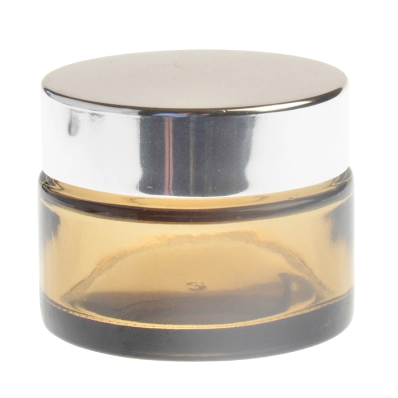 30ml Amberised Glass Jar with Silver Lid (48/400)