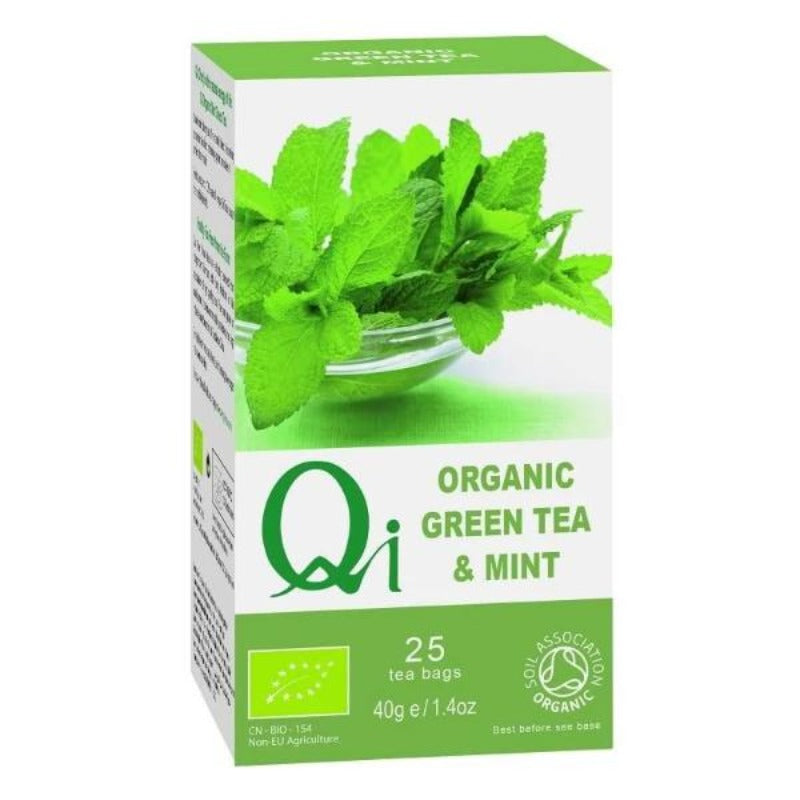Qi Organic Green Tea  & Mint