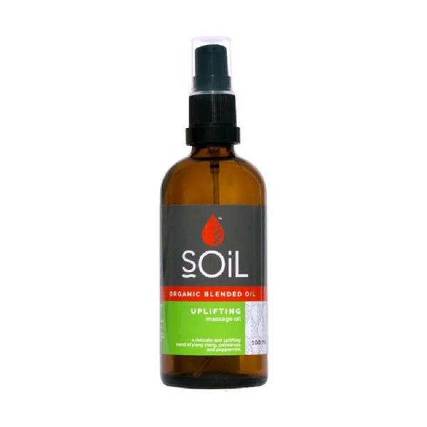 Soil Organic Uplifting Massage Oil Blend - Essentially Natural
