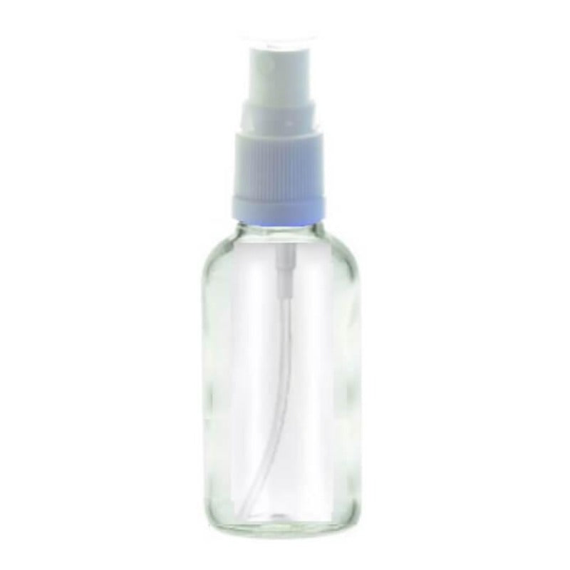 30ml Spritzer Clear Aromatherapy Bottle (White Top)