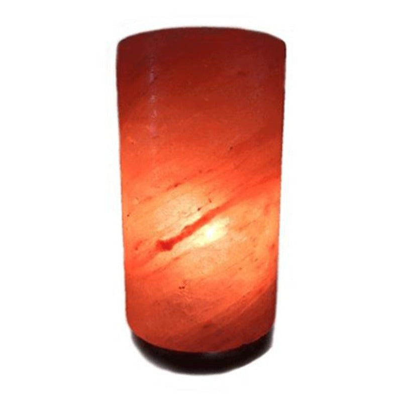 Himalayan Crystal Salt Lamp Cylinder Shape - Essentially Natural