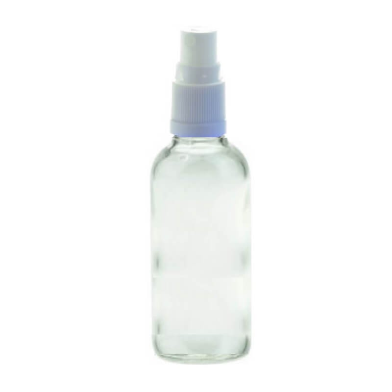 100ml Spritzer Clear Aromatherapy Bottle (White Top)