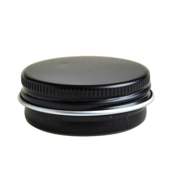 15g Black Aluminium Tin