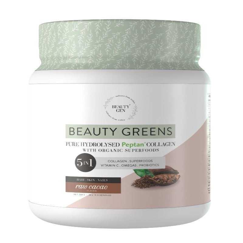 Beauty Gen Hydrolysed Collagen Raw Cacao Flavour - Essentially Natural