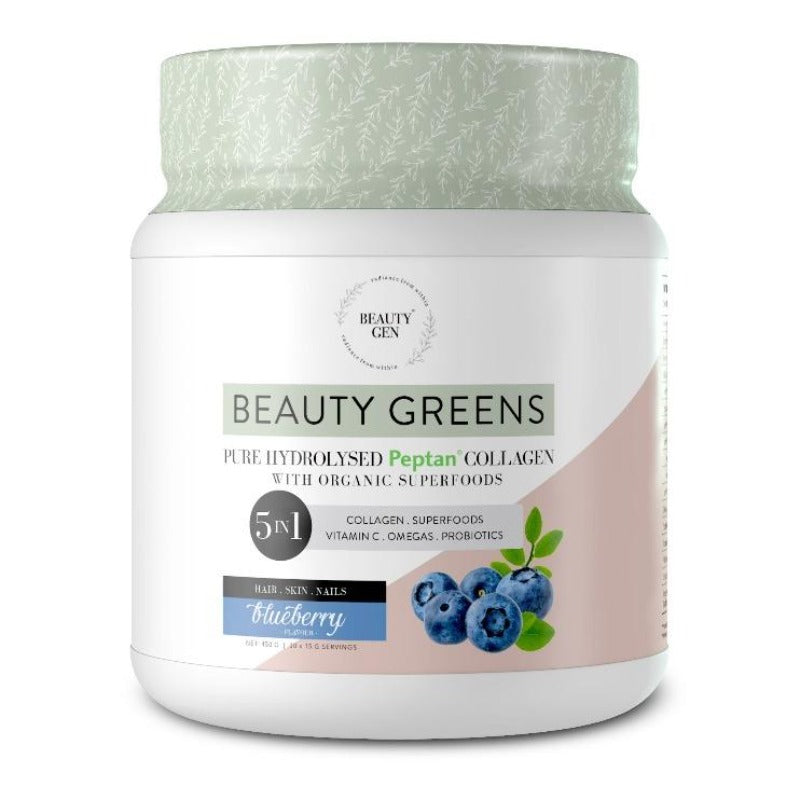 Beauty Gen Hydrolysed Collagen Blueberry Flavour - Essentially Natural