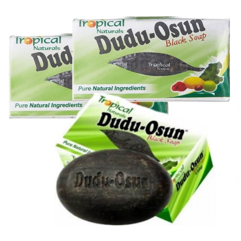 Dudu-Osun African Black Soap Pack of 3 bars