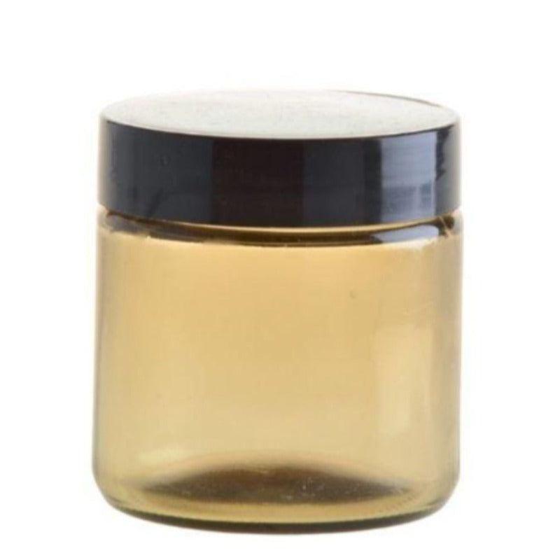 100ml Amberised Glass Jar with Black Lid (58/400) - Essentially Natural