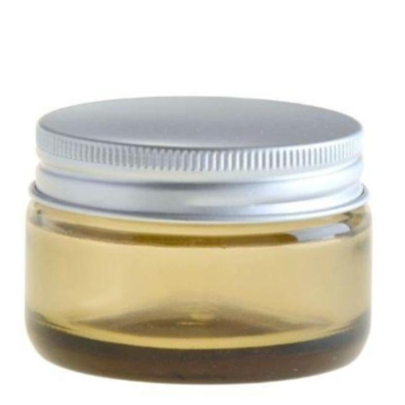 50ml Amberised Glass Jar with Aluminium Lid