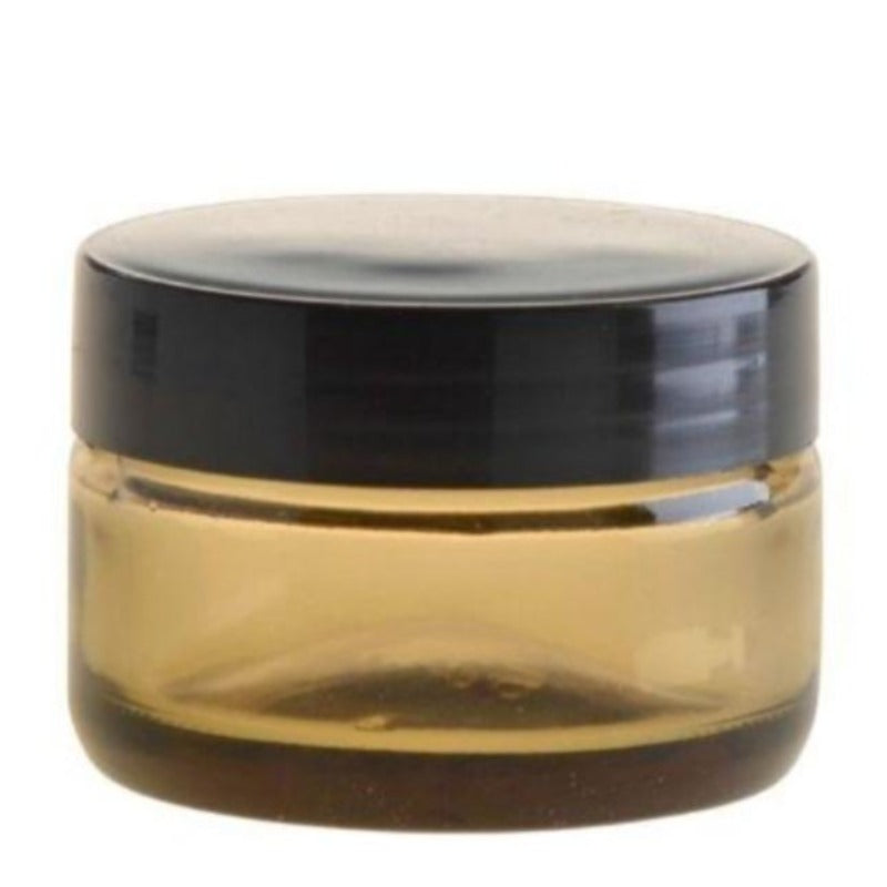 50ml Amberised Glass Jar with Black Lid (58/400) - Essentially Natural