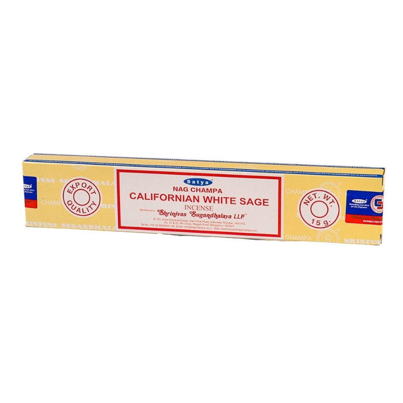 Satya Nag Champa Californian White Sage Natural Incense