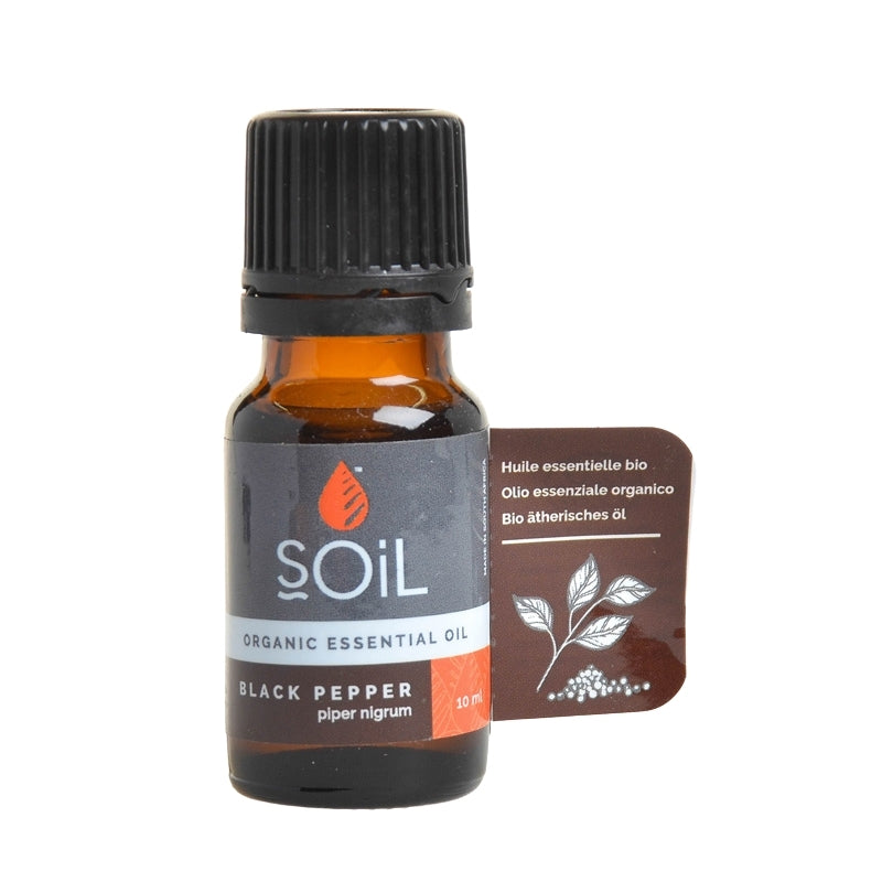Soil Organic Black Pepper Essential Oil - Essentially Natural