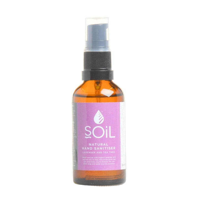 Soil Organic Lavender and Tea Tree Sanitiser - Essentially Natural