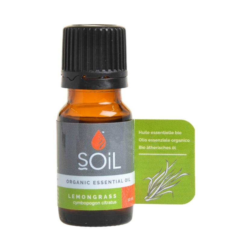 Soil Organic Lemongrass Essential Oil - Essentially Natural