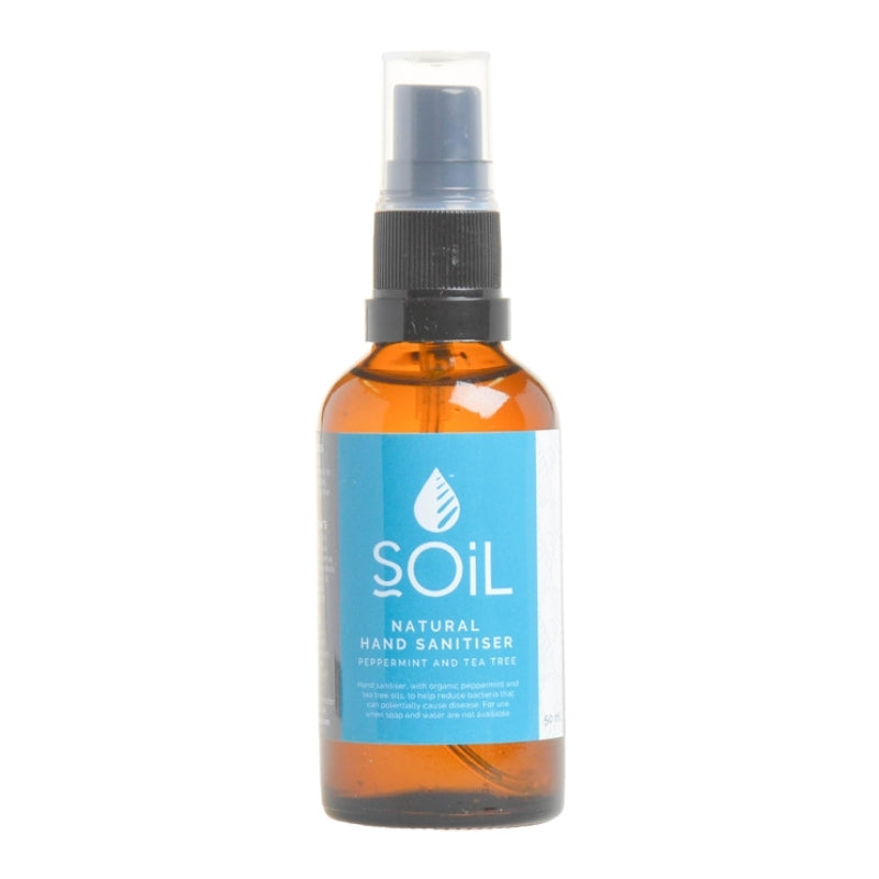 Soil Organic Peppermint and Tea Tree Sanitiser - Essentially Natural