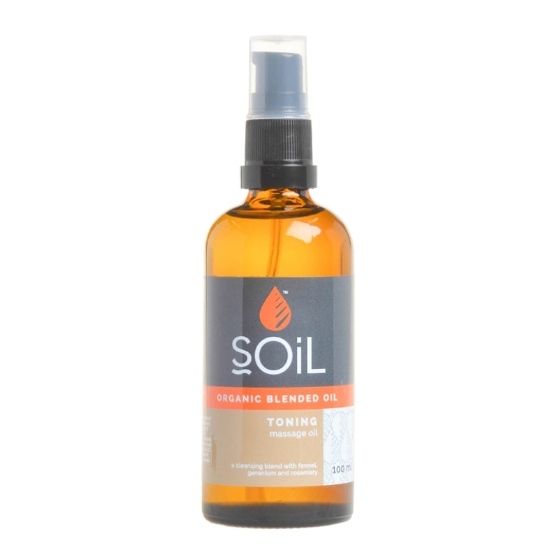 Soil Organic Toning Massage Oil Blend - Essentially Natural