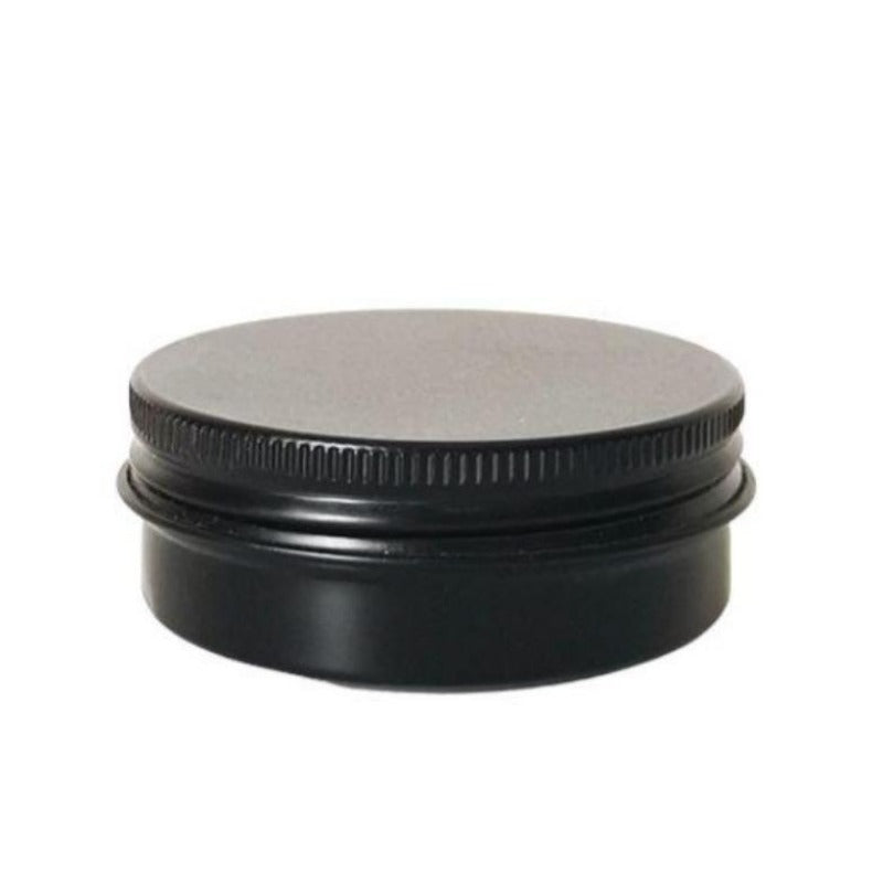 100g Solid Black Aluminium Tin