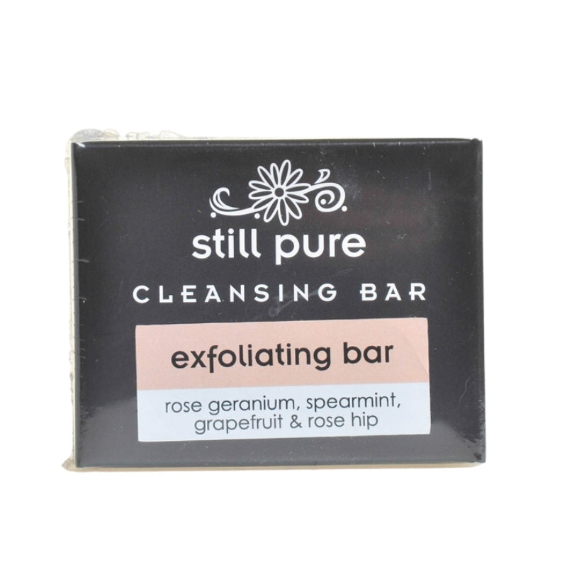 Still Pure Exfoliating Soap Bar With Rose Hip Seeds - Essentially Natural