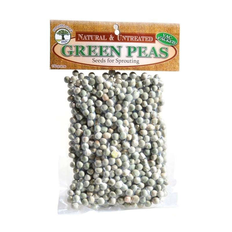 Umuthi Green Peas Sprouting Seed - Essentially Natural