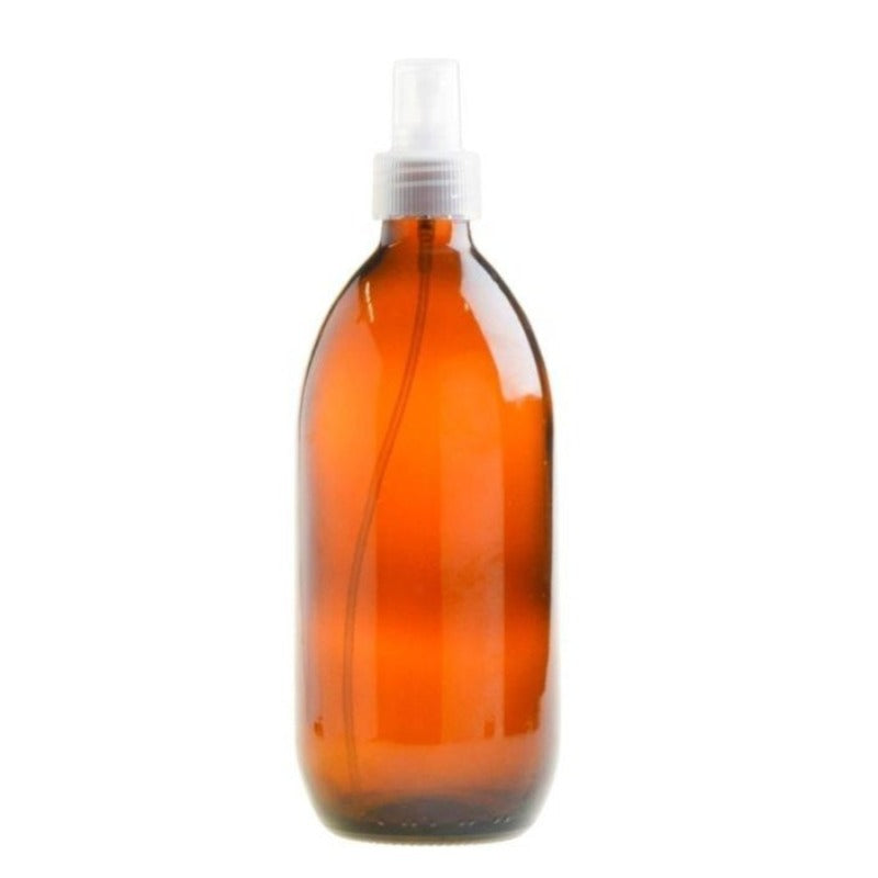 500ml Amber Glass Generic Bottle with Atomiser Spray - Natural (28/410) - Essentially Natural