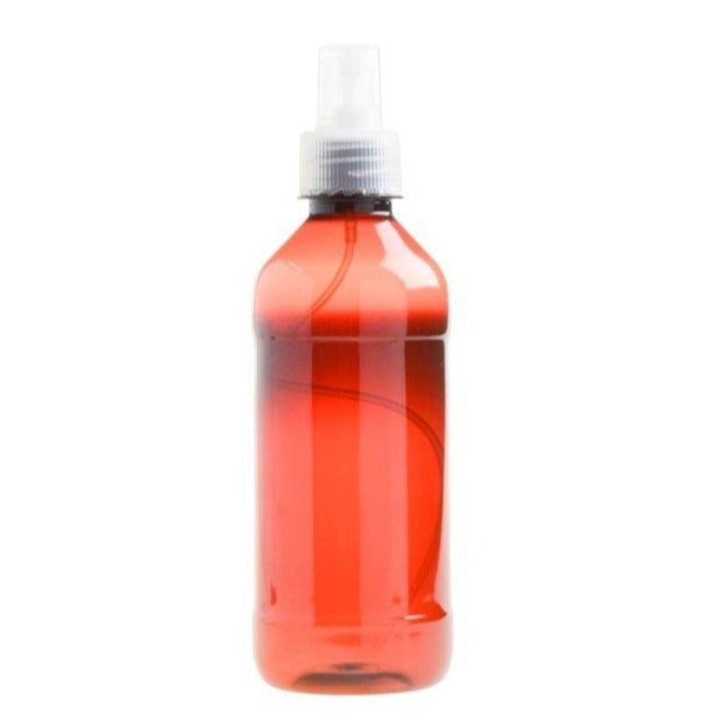 350ml Amber PET Plastic Bottle with Atomiser Spray - Natural (28/410) - Essentially Natural
