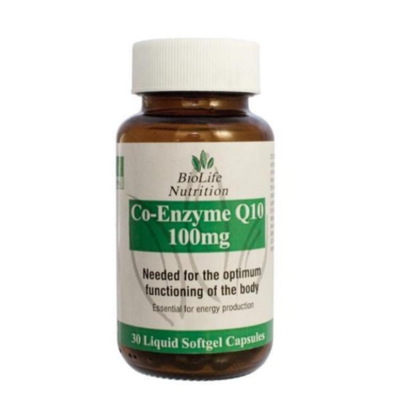 Biolife Co-Enzyme Q10 - 30 Capsules (100mg) - Essentially Natural