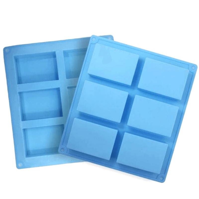 6 Cavity Rectangular Silicone Soap Mold