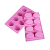 8 Cavity Silicone Soap Mold - Oval Design - Essentially Natural
