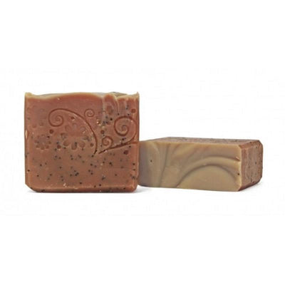 Exfoliating Soap Bar  Rose Geranium, Spearmint, Poppy Seeds
