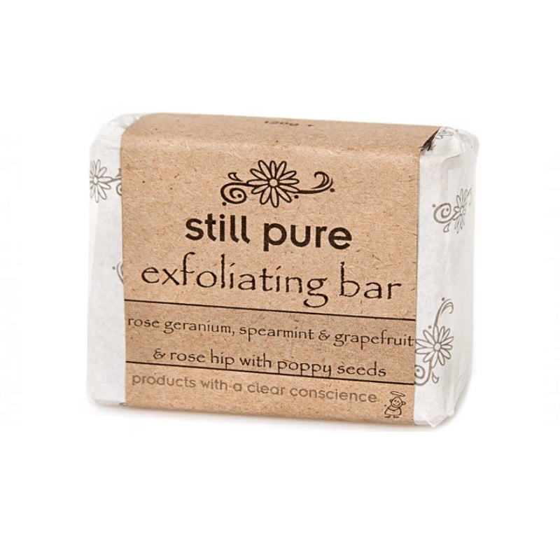 Still Pure Exfoliating Soap Bar With Poppy Seeds - Essentially Natural