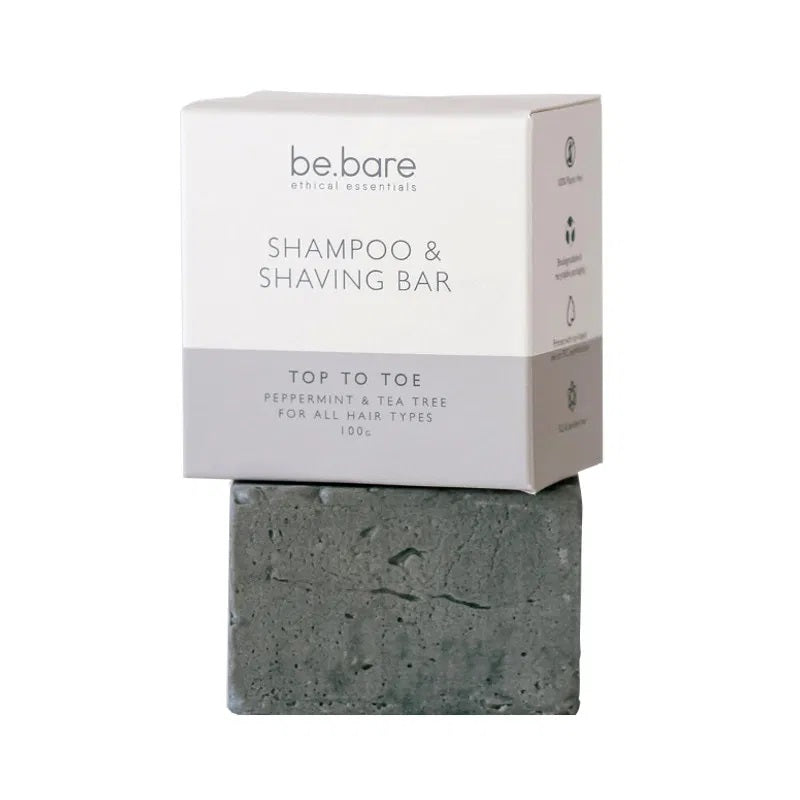 Be Bare Top To Toe Shampoo & Shaving Bar - Essentially Natural