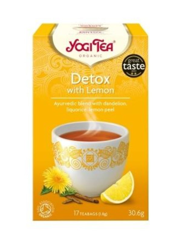 Yogi Ayurvedic Tea: Detox with Dandelion & Lemon - Essentially Natural