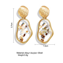 Load image into Gallery viewer, NIRUMON Golden Studs Creative Vintage Shell Geometric Fashion Earrings - NIRUMON
