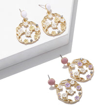 Load image into Gallery viewer, NIRUMON Hollow Flower Hoop Design Bridal Earrings - NIRUMON